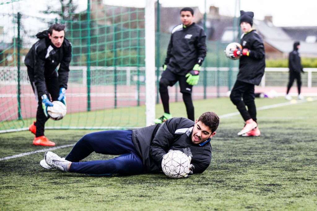 entrainement gardien de but foot breizh academie